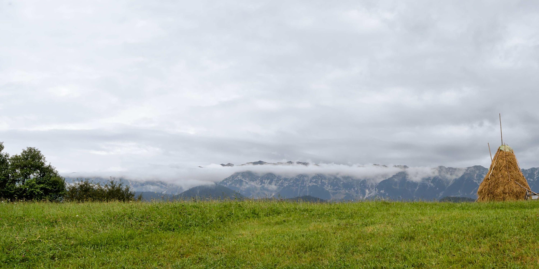 Clouds over Piatra Craiului mountains
